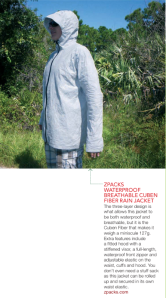 The ZPacks Waterproof Breathable Cuben Fiber Rain Jacket has shown in the June 2013 TGO magazine.
