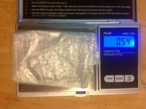 0.54 gram wallet
