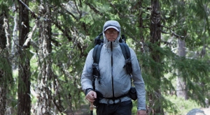 Author and hiker, John Abela, wearing a ZPacks Arc Blast backpack.