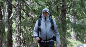 Author and hiker, John Abela, wearing a ZPacks Arc Blast backpack.