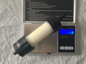 Sawyer Mini (without label or cap) - 37.77 grams / 1.33 ounces