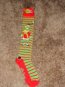 Oh yeah, Grinch socks!!