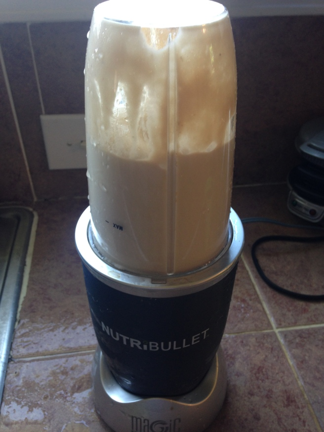 Using a Nutribullet To Purée The Bananas