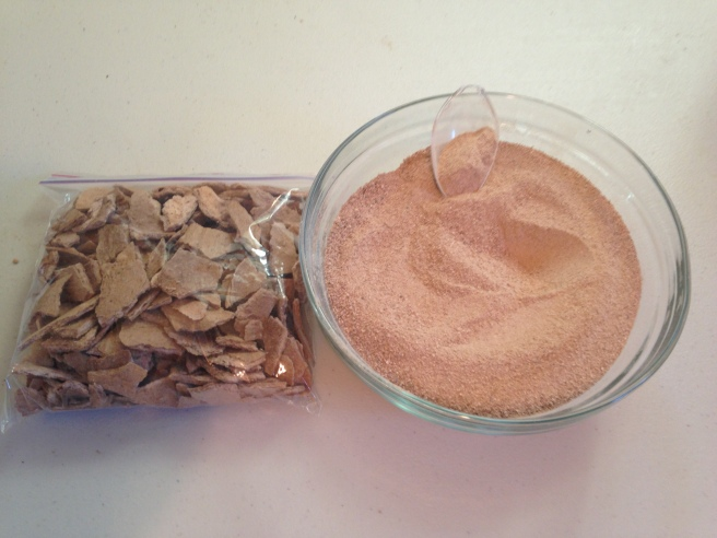 Here is the twice burr grinder (espresso fine) banana purée, now in 'powder' form.