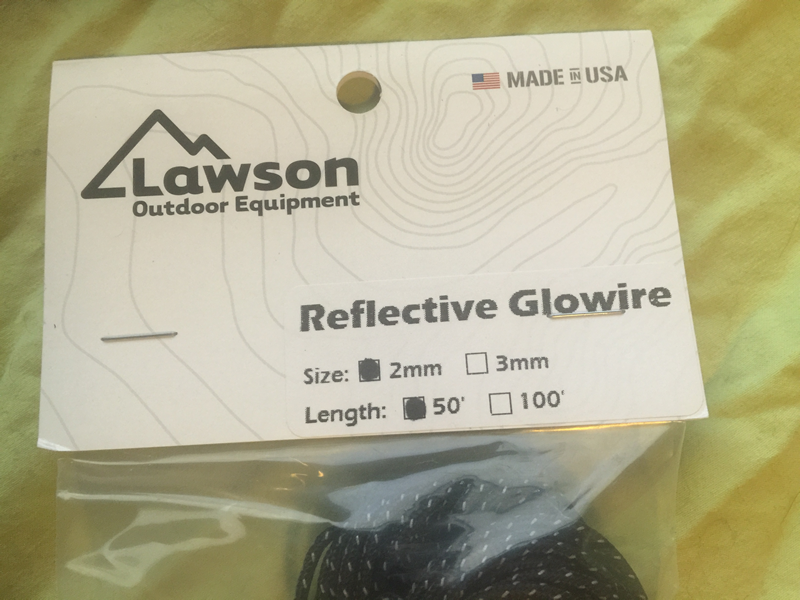 "Lawson Outdoor Equipment, ""Reflective Glowire"" – HikeLighter.Com"