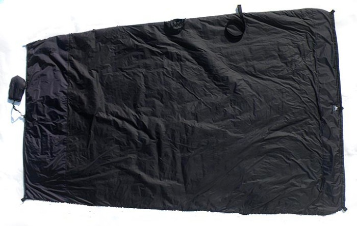MLD Spirit Quilt, in fully open mode. Offering an at-home style of sleeping!