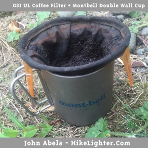 GSI UL Coffee Filter + Montbell Double Wall Ti Cup