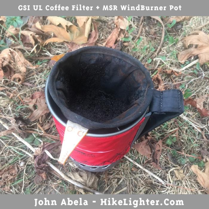 GSI UL Coffee Filter + MSR WindBurner
