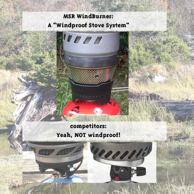 The MSR WindBurner. A WindProof Stove System
