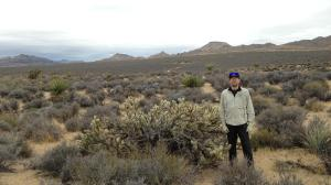 Solumbra Ultra Athlete Shirt, while surveying a trail route in the Mojave Desert.