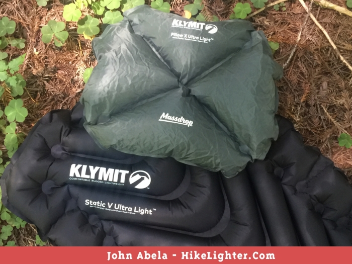 Massdrop x Klymit Static V Ultralight Pad & Pillow X UL