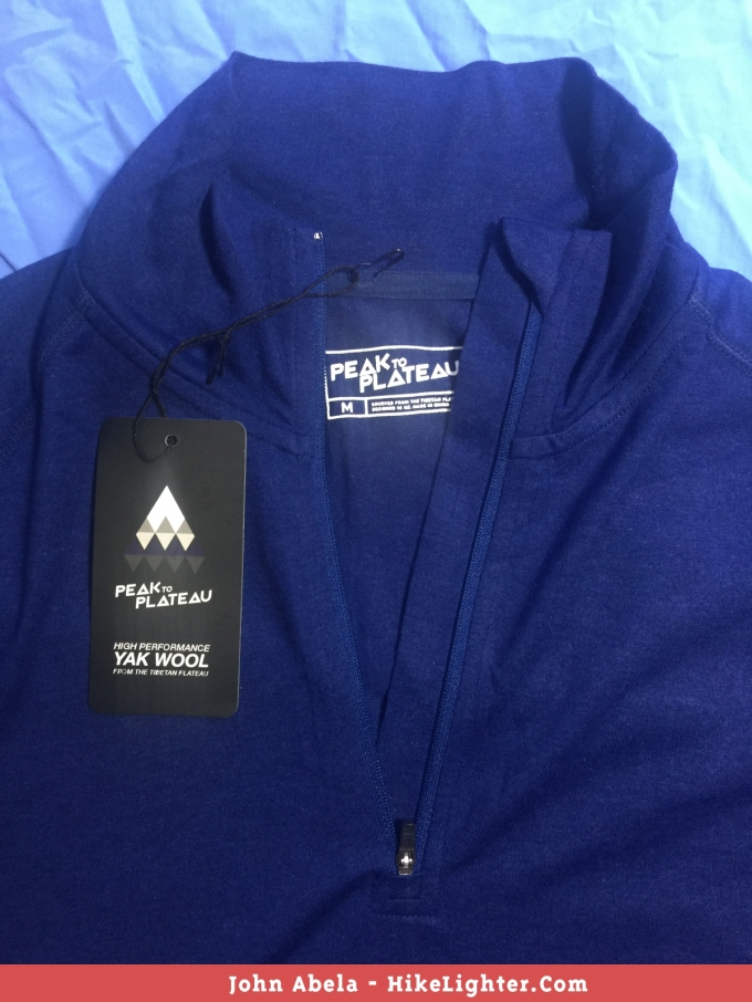 Peak to Plateau, Kailash Quarter Zip - Front