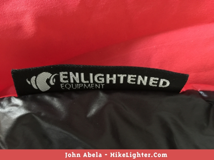 Enlightened Equipment 'Enigma APEX' Quilt Branding