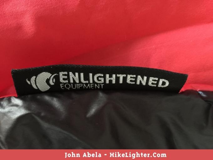Enlightened Equipment 'Enigma APEX' Quilt Branding