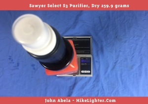 Sawyer Select, S3, Weight
