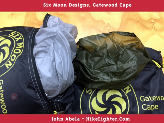 Six Moon Designs, Gatewood Cape, 2018, Both New Colors