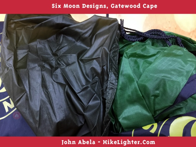 Six Moon Designs, Gatewood Cape, 2018, Previous vs New Color, Forest Green, 002