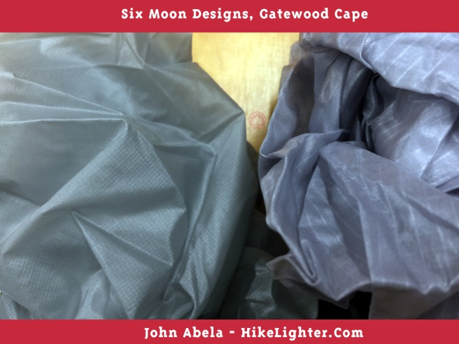 Six Moon Designs, Gatewood Cape, 2018, Previous vs New Color, Gray, 002