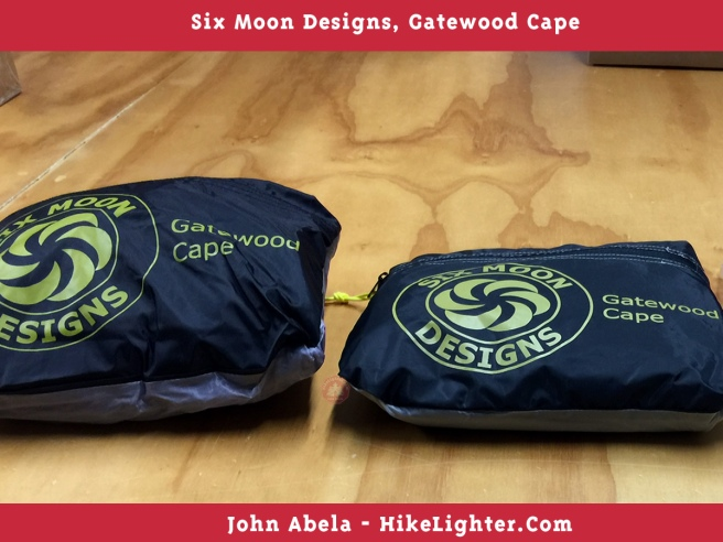 Six Moon Designs, Gatewood Cape, 2018, Volume Size, Previous vs Current